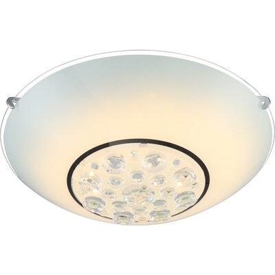 House Additions Louise 1 Light Flush Ceiling Light