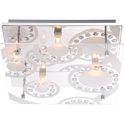 House Additions Dianne 4 Light Flush Light