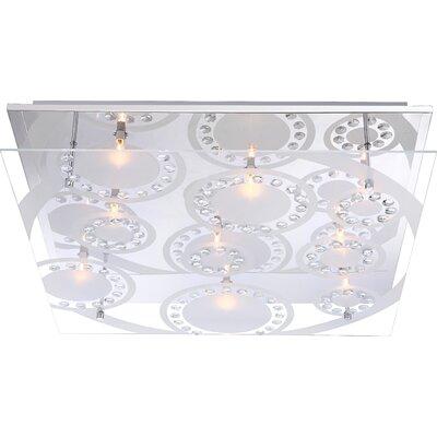 House Additions Dianne 9 Light Flush Light