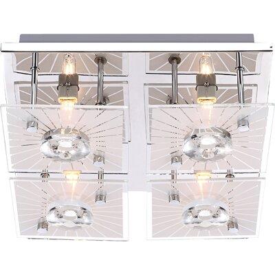 House Additions Iolana 4 Light Flush Light