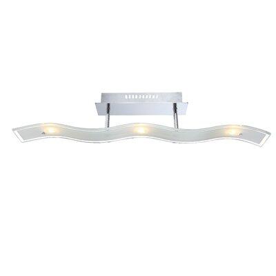 House Additions 3 Light Semi Flush Light