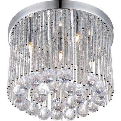 House Additions Janina 5 Light Flush Light