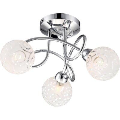 House Additions Orlene 3 Light Semi Flush Light
