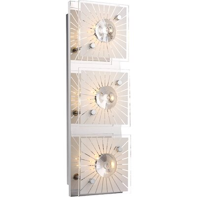 House Additions Santi 3 Light Flush Wall Light