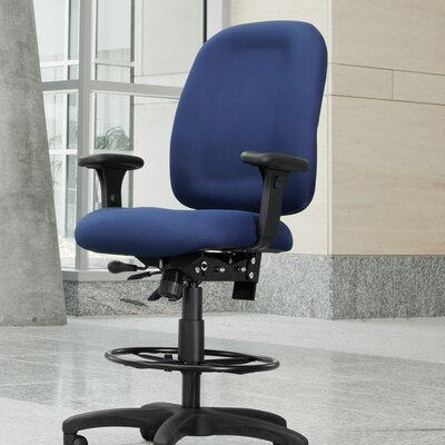 High-Back Drafting Chair Upholstery: Navy