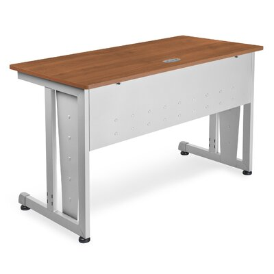 "48"" W Training Table with Modesty Panel Tabletop Finish: Cherry and Silver"