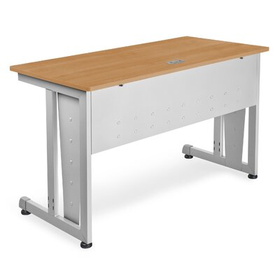 "48"" W Training Table with Modesty Panel Tabletop Finish: Maple and Silver"