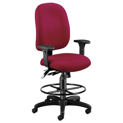 High-Back Drafting Chair Upholstery: Wine