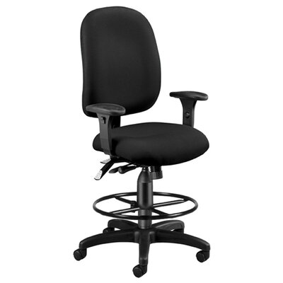 High-Back Drafting Chair Upholstery: Black
