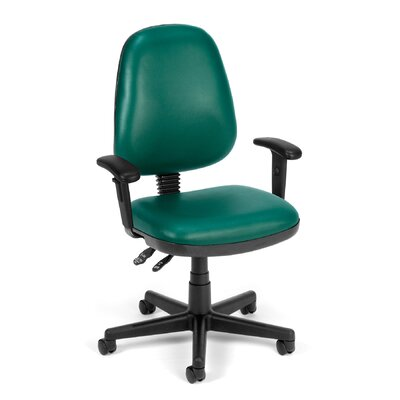 Posture Confrence Mid-Back Desk Chair Upholstery: Teal