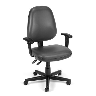 Posture Confrence Mid-Back Desk Chair Upholstery: Charcoal