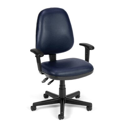 Posture Confrence Mid-Back Desk Chair Upholstery: Navy