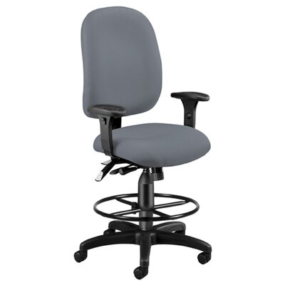 High-Back Drafting Chair Upholstery: Gray