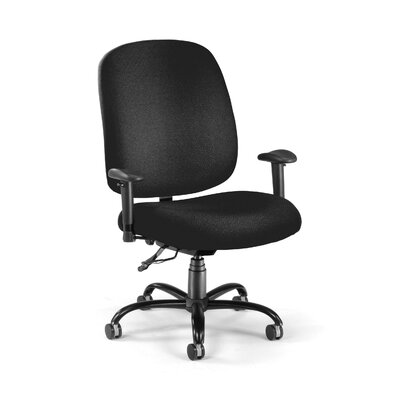 Big and Tall High-Back Desk Chair Upholstery: Black
