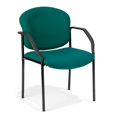 Manor Series Deluxe Upholstered Stacking Guest Chair Seat Finish: Fabric/Teal
