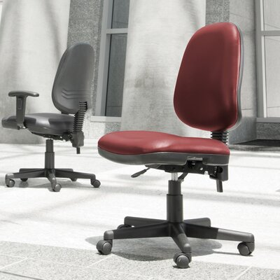 Posture Confrence Mid-Back Desk Chair Upholstery: Wine