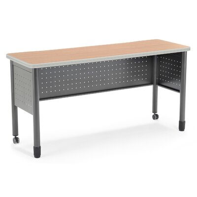 "59"" W Mesa Series Training Table with Wheels Tabletop Finish: Maple"