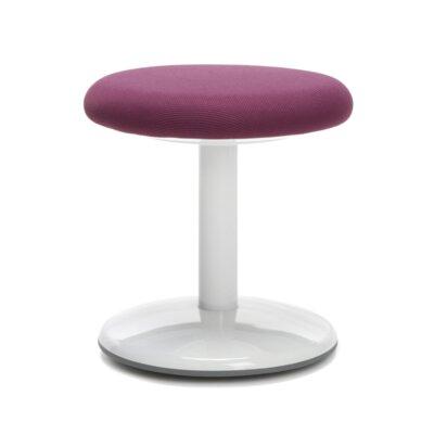 Orbit Vinyl Lab Stool Upholstery: Purple Static