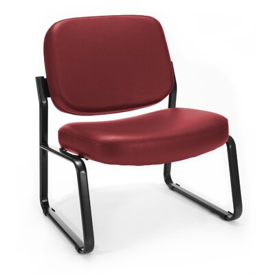 Big and Tall Vinyl Armless Guest / Reception Chair Seat Color: Wine