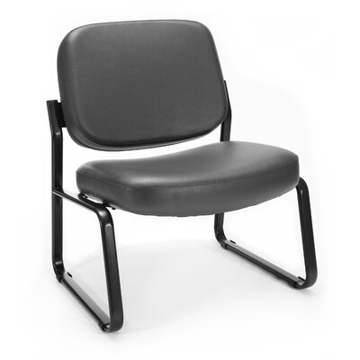 Big and Tall Vinyl Armless Guest / Reception Chair Seat Color: Charcoal