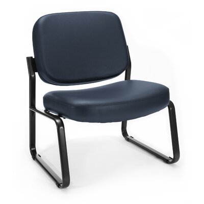 Big and Tall Vinyl Armless Guest / Reception Chair Seat Color: Navy