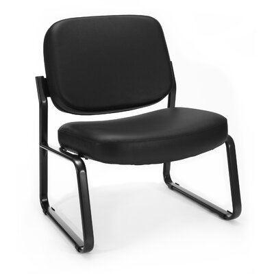 Big and Tall Vinyl Armless Guest / Reception Chair Seat Color: Black