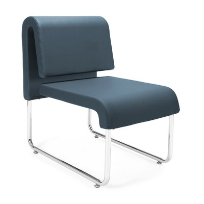 UNO Chair (Set of 2) Fabric: PVC Free Polyurethane, Color: Blue