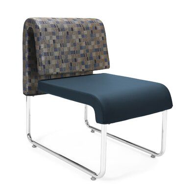 UNO Chair (Set of 2) Fabric: Fabric Back/PVC Free Polyurethane Seat, Color: Blue Back- Blue Seat