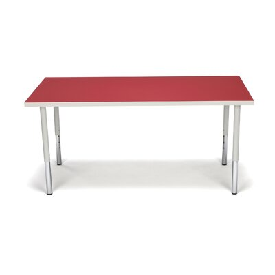 Adapt Series Adjustable Rectangle Activity Table Tabletop Finish: Red, Height: Student, Casters: Yes