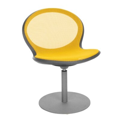 Net Series High-Back Desk Chair (Set of 2) Upholstery Color: Yellow, Height Adjustable: Yes