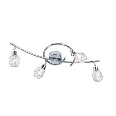 Nino Leuchten Volles Schienenbeleuchtungsset 4-flammig Mesh