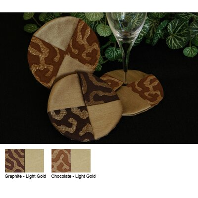 Pacific Table Linens Illusions Wine Glass Coaster (Set of 2)