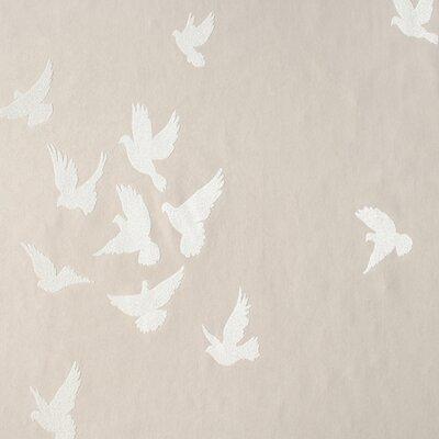 "York Wallcoverings Walt Disney Signature II Flutter 27' x 27"" Wildlife Foiled Wallpaper"