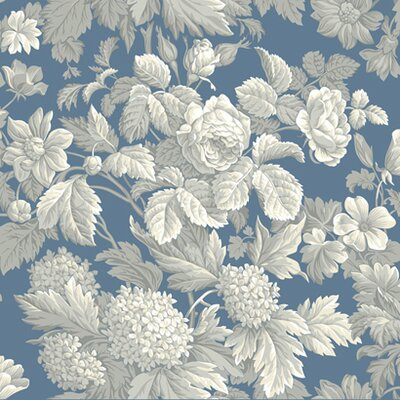 """York Wallcoverings French Dressing 33' x 20.5"""" Floral and Botanical Distressed Wallpaper"""