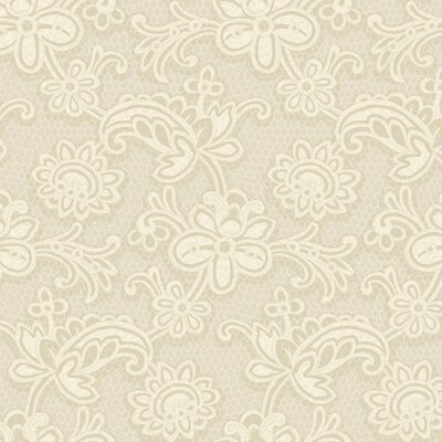 """York Wallcoverings Candice Olson Shimmering Details Lace 27' x 27"""" Floral Wallpaper"""