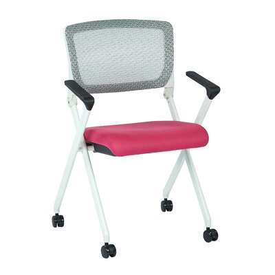 SPACE Mid-Back Mesh Task Chair Upholstery: Pink