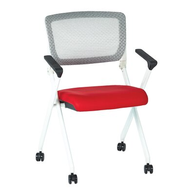 SPACE Mid-Back Mesh Task Chair Upholstery: Red