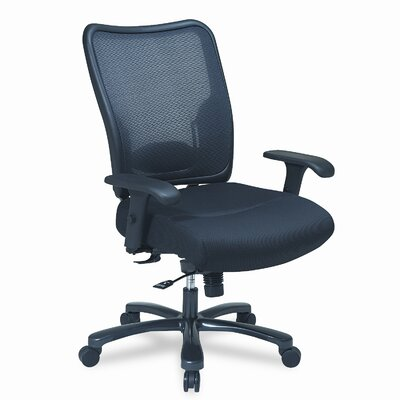 Office Star Products Space Air Grid Conference Big & Tall Chair, Air Grid Back/Mesh Seat