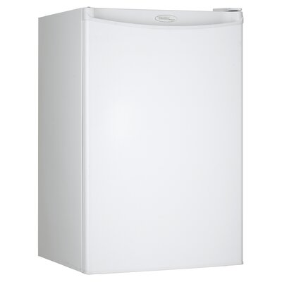 4.4 cu. ft. Compact Refrigerator with Freezer Color: White