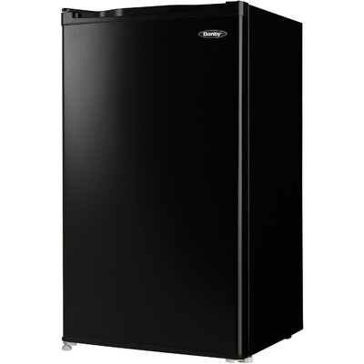 3.2 cu. ft. Compact Refrigerator with Freezer Finish: Black