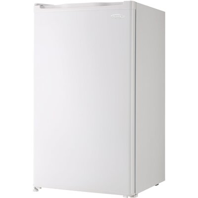 3.2 cu. ft. Compact Refrigerator with Freezer Finish: White