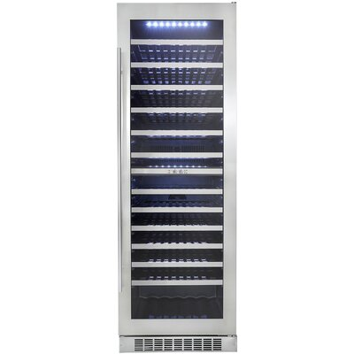 129 Bottle Silhouette Dual Zone Built-In Wine Cellar