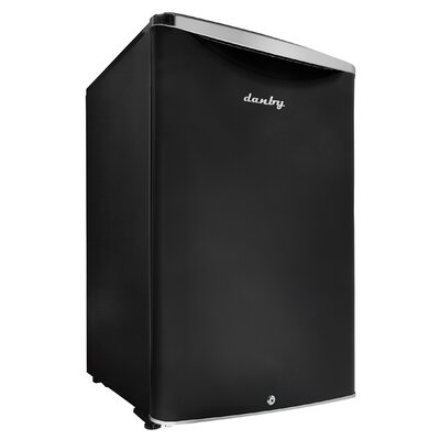 Contemporary Classic 20.7-inch 4.4 cu. ft. Compact Refrigerator Color: Black