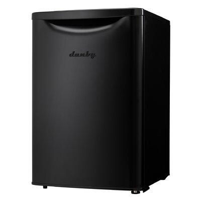 Contemporary Classic Essential 2.6 cu. ft. Compact/Mini Refrigerator Color: Black
