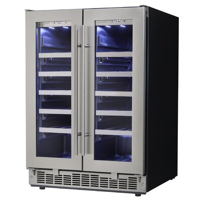 42 Bottle Silhouette Professional Dual-Zone Built-In Wine Cooler
