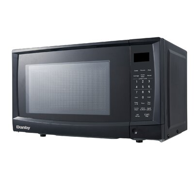 "17.81"" 0.7 cu. ft. Countertop Microwave Finish: Black"