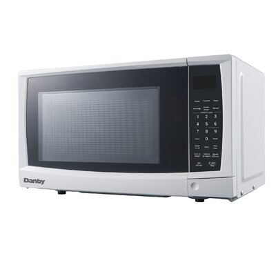 """17.81"""" 0.7 cu. ft. Countertop Microwave Finish: White"""