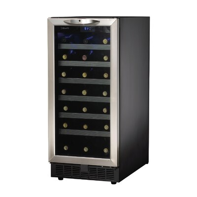 34 Bottle Silhouette Single Zone Built-In Wine Cooler