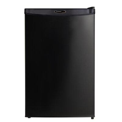 4.4 cu. ft. Compact Refrigerator with Freezer Color: Black