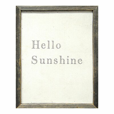 Sugarboo Designs Hello Sunshine Framed Painting Print